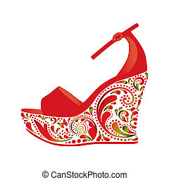 Beautiful sandals - Beautiful sandals on a white background...