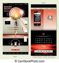creative one page website template design