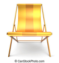 Beach chair nobody yellow chaise longue relaxation holidays...