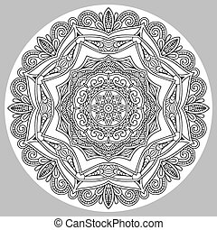 coloring book page for adults - zendala, joy to older...