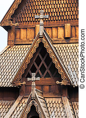 Norway old church - The Norway old wooden church and...