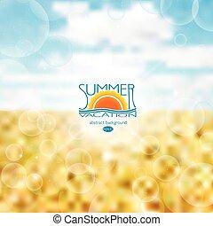 Blur the background . Summer, heat,