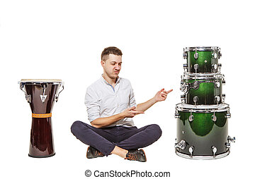Drums worse than djembe - The guy between the djembe and...