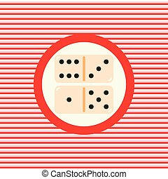 Dominoes color flat icon  vector graphic illustration