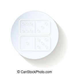 Dominoes thin lines icon vector graphic illustration