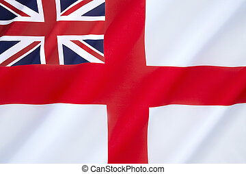 British White Ensign - flown by the Royal Navy and most...