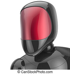 Robot cyborg android futuristic bot artificial character...