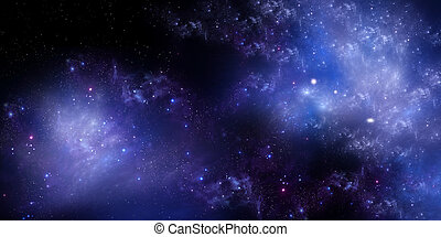 starry sky in the open space, panoramic background