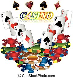 Gambling background with casino elements.