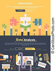 Analyzing and Investment Concept - Analyzing financial data...