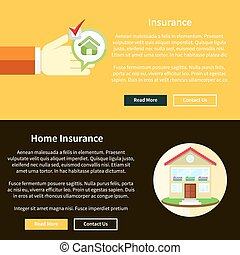 House Insurance Concept - House insurance concept in flat...
