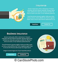 Business Insurance Concept - Business insurance concept in...