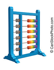 Abacus - 3D digital render of an abacus isolated on white...