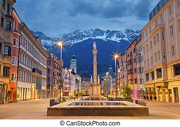 Innsbruck. - Image of Innsbruck, Austria during twilight...