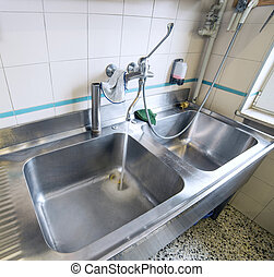 sink stainless steel industrial kitchen with tap - sink...