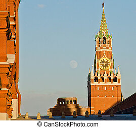Tower of Moscow Kremlin summer evening