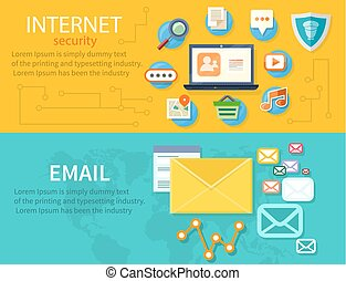 Concept of Internet Protection - Computer internet security....