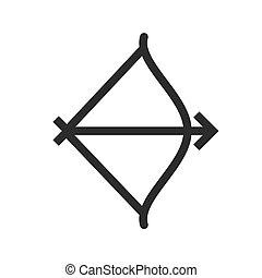 Archery, arrow, bow, shoot icon vector image. Can also be...