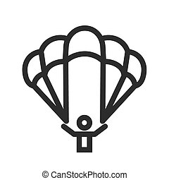 Paragliding, glider, parachute, jumping icon vector image...