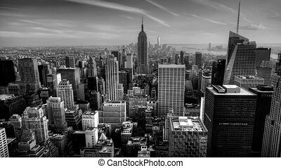 B and W timelapse Manhattan - A beautiful timelapse of...