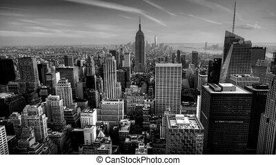 B&W timelapse Manhattan