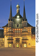 Wernigerode,Harz,Germany - historic Town Hall of...