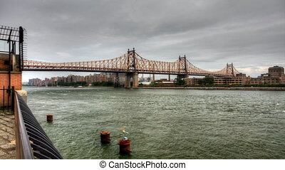 Queensboro Bridge over East River - The Queensboro Bridge...