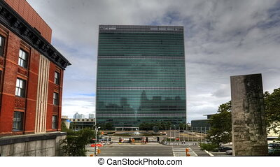 United Nations Building in New York - A timelapse view of...