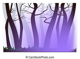 Morning purple haze - morning purple haze, trees similar to...