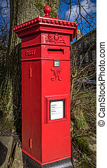 Victorian Pillar Box - A classic Victorian red pillar box...