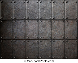 armour metal texture with rivets background