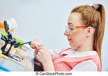prosthetic dentistry technician - Female dental technician...
