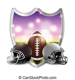 American Football Emblem Illustration - An illustration of...