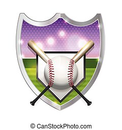 Baseball Emblem Illustration - An illustration of a...