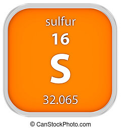 Sulfur material sign - Sulfur material on the periodic...