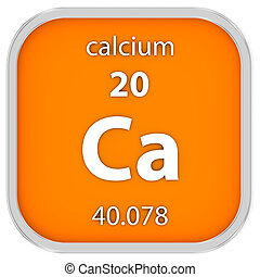 Calcium material sign - Calcium material on the periodic...