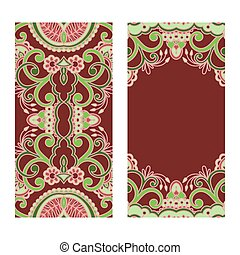 Vector set of floral decorative background - Vector set of...