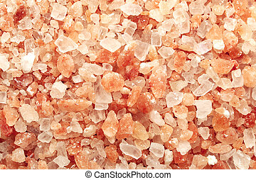Himalayan pink salt - beautiful photo a background Himalayan...