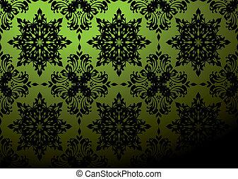 green wallpaper blend