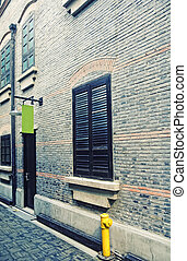 Back Alley in an old French community in Shanghai, China