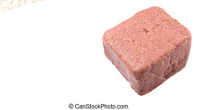 A Block Of Shrimp Paste - A block of traditionally made...