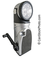 Modern electric torch on a white background