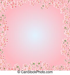 Seamless texture cherry blossoms Spring  vector.eps