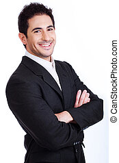 Handsome young Business man smiling
