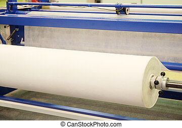 textile industry  - Production line in a textile industry