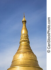 Shwedagon - Part of the world famous Shwedagon Pagoda in...