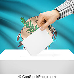 Ballot box with US state flag on background - Oklahoma -...