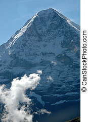 Eiger with clouds