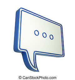 3d speech bubble with three dots 3d illustration with chat...