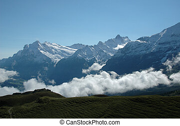 eiger scene - scenic view over eiger region